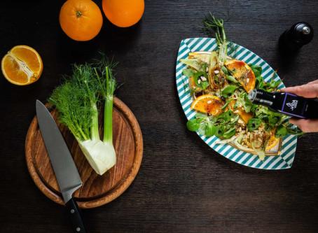 Fenchel-Orangen-Salat mit Arganöl