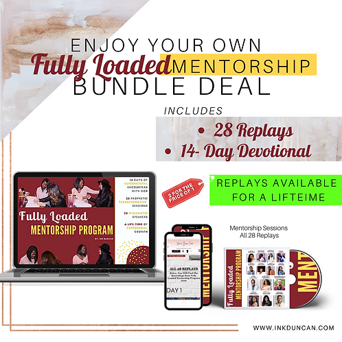 Fully Loaded Mentorship Devotional + 28 Session Replays
