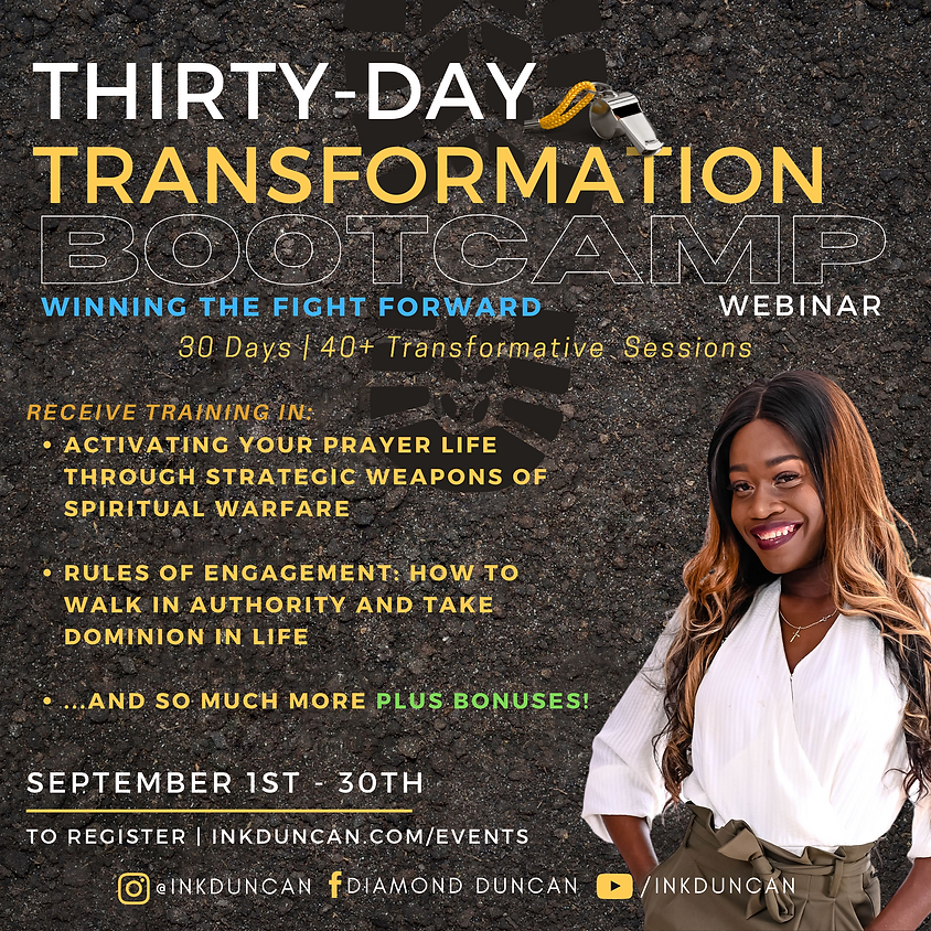 Thirty-Day Transformation Bootcamp