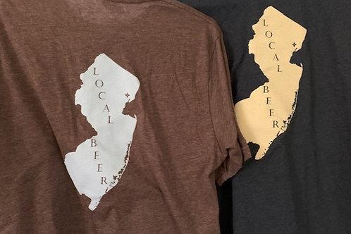 NJ Map T Shirt