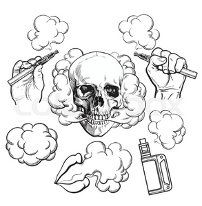 skull with vapes