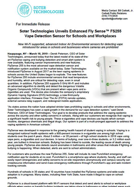 FS 255 Press Release