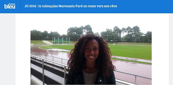 Maroussia Paré - Jeux Olympiques 2016