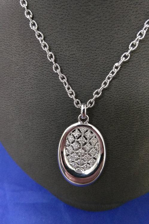Gabriel & Co. Open Filigree 0.16ctw Diamond Pendant Necklace