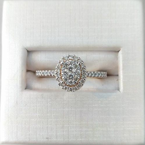 14k Rose Gold 1/3ctw Engagement Ring