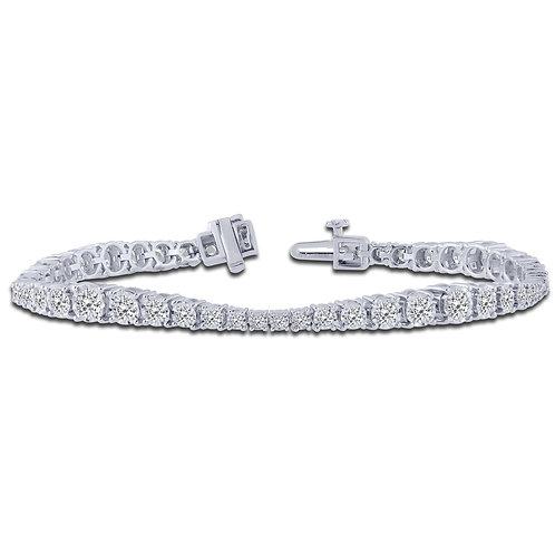 14k White Gold 4.0ctDiamond Wave Bracelet