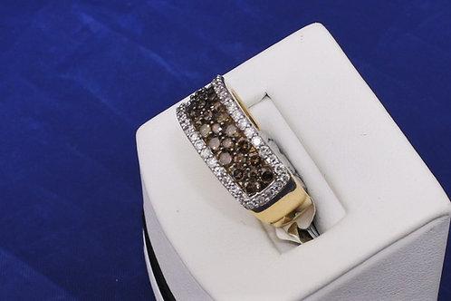 14 Yellow Gold 1.50ct Chocolate & White Diamond Ring