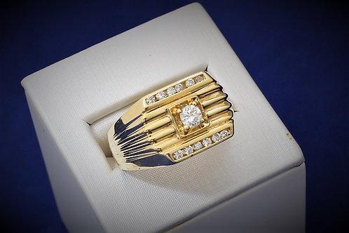 14k Yellow Gold 0.33ct Men's Diamond Ring