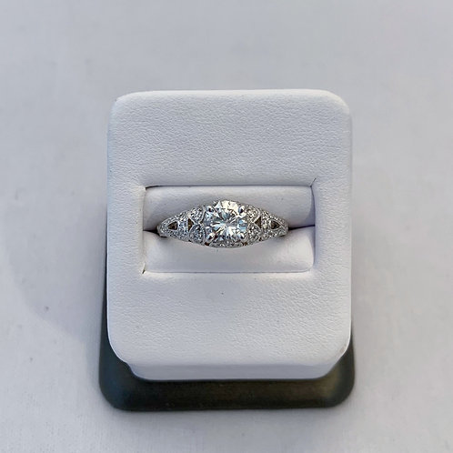 14k White Gold 1.10ct Round Diamond Engagement Ring