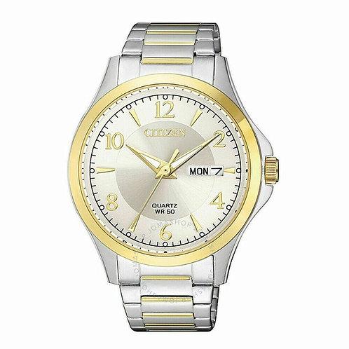 Citizen Quartz Men's Silver Dial Two-tone Watch