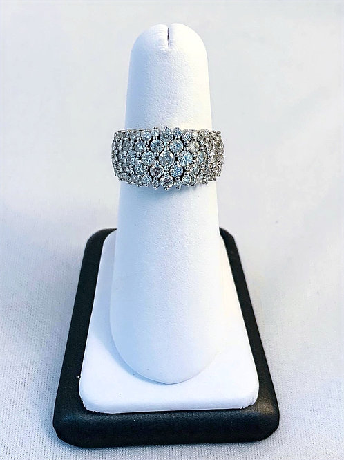 10k White Gold 2.0ct Total Diamond Ring