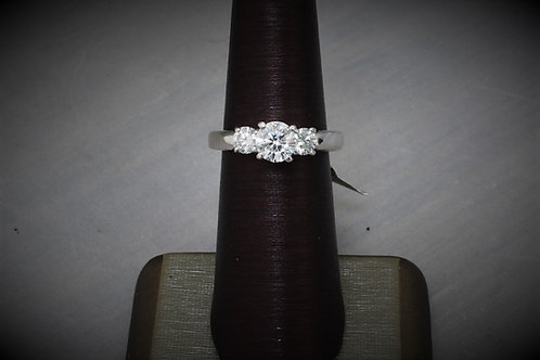 18kt Platinum 3-Stone 1.4ct Diamond Ring
