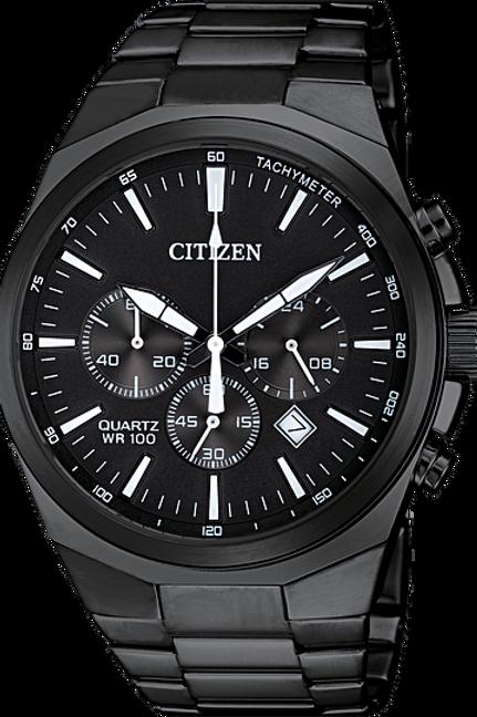 Citizen Men's Quartz Black Chronograph Watch