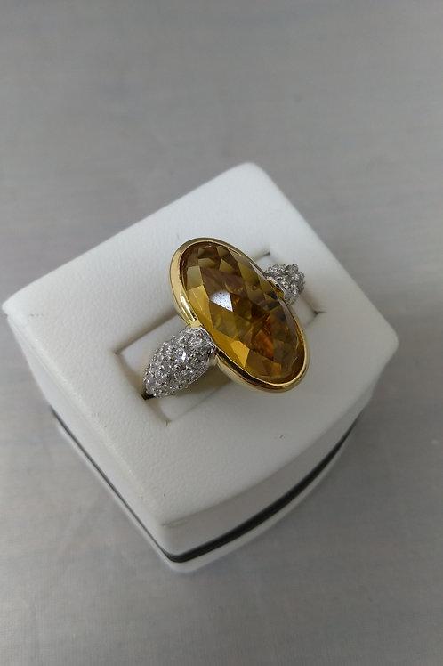 8ct. Citrine accented with 1ctw diamonds