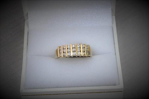 14k Yellow Gold 0.42ct Diamond Ring
