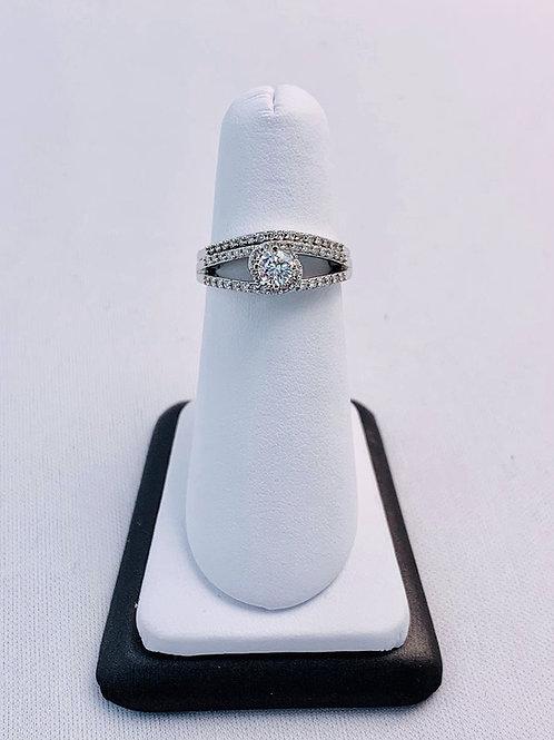 14k White Gold 0.55ct Round Diamond Wedding Set