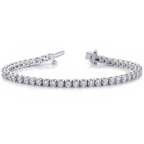 14k White Gold 5.97ct Diamond Tennis Bracelet
