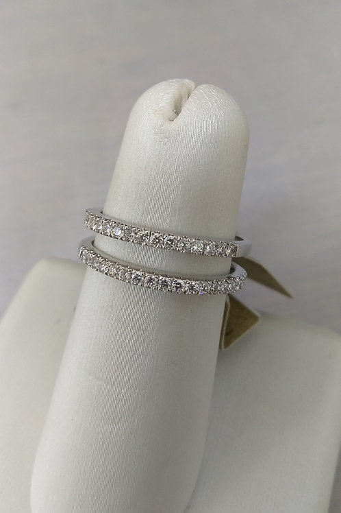 14k White Gold 0.19ctw Diamond Wedding Band