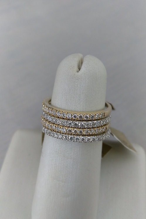 14k Gold Stackable Diamond Rings