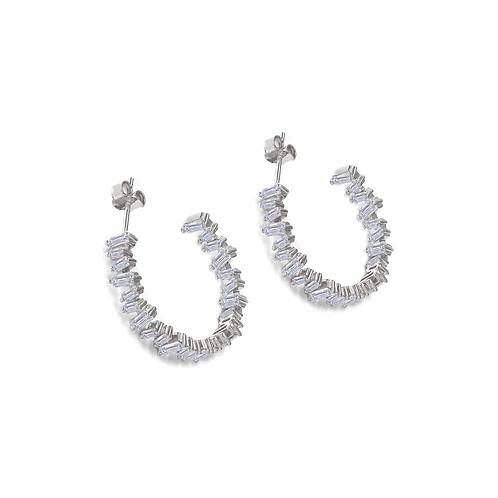 Olivia 45 Baguette Hoop Earrings