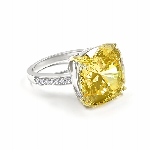 Diana 01 Canary Yellow Ring