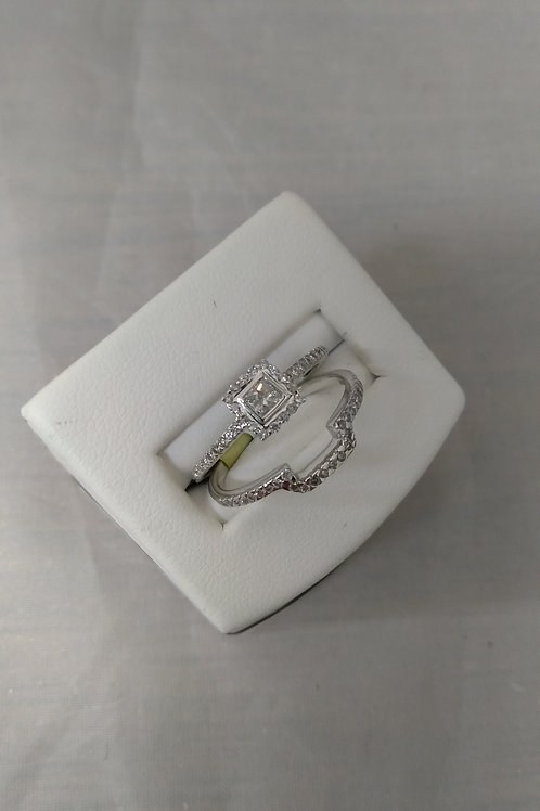 .33ctw Diamond 14k Gold Engagement Ring & Wedding Band Set