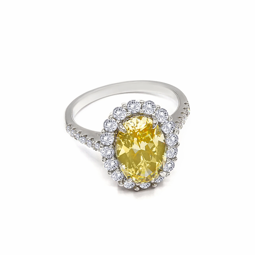 Victoria 04 Ring Canary Yellow