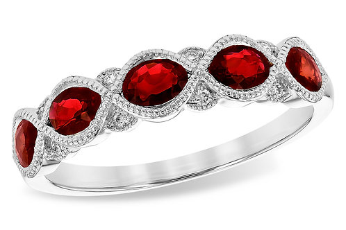 1.00ct Ruby Anniversary Band