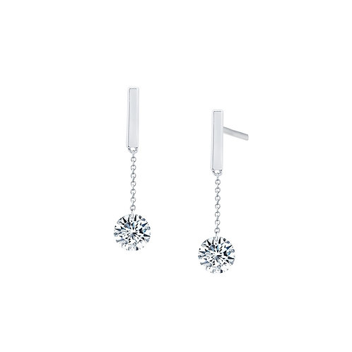 Sterling Silver Frameless Dangle Earrings