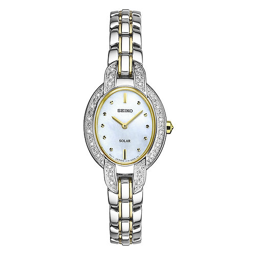 Seiko SOLAR Solar Powered Diamond Watch Water Resistant