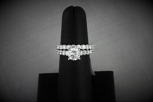 14k White Gold 2.81ct Diamond Wedding Set