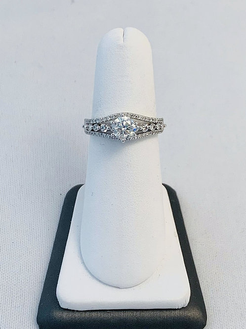 14k White Gold 1.17ct Diamond Engagement Ring