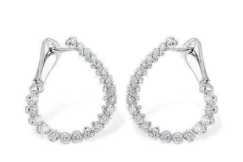 14kt White Gold 1/2ct Diamond Earrings