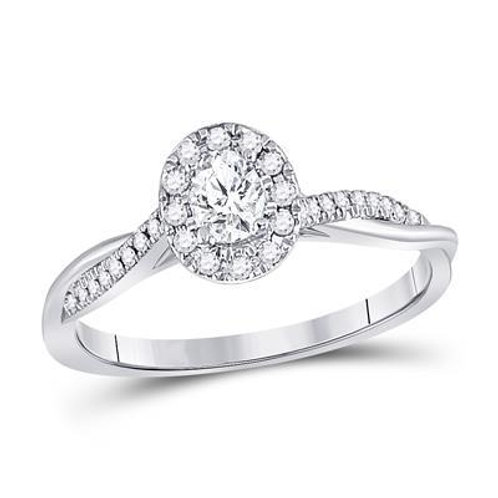 14k White Gold 1/3ct Diamond Engagement Ring
