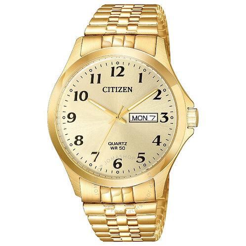 Men's Citizen Quartz Gold Tone Watch