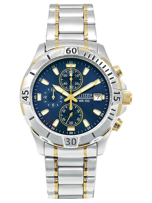Men's Citizen Quartz Chronograph Two-Tone Watch