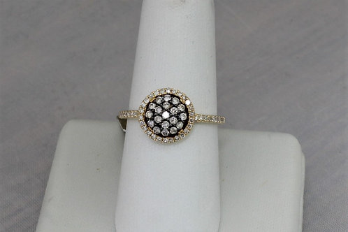 14k Yellow Gold 0.43ct Diamond Ring