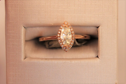 14kt Rose Gold Marquise Cut Engagement Ring