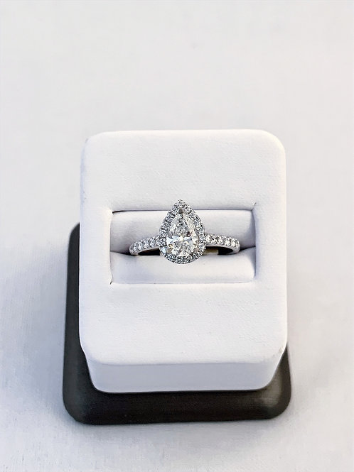 14k White Gold 1.20ct Pear Cut Diamond Engagement Ring