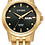Thumbnail: Ladies Citizen Quartz Gold Tone Watch With Round Black Dial