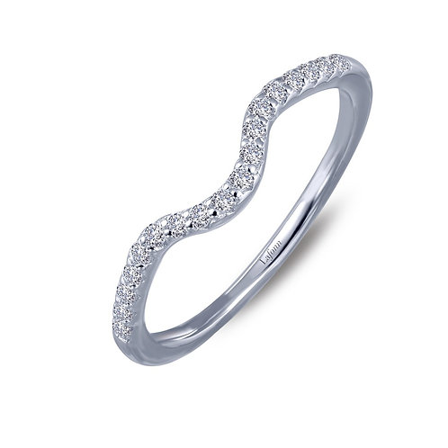 Sterling Silver Curved Wedding Band