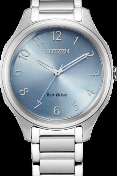 DRIVE : Eco-Drive Ladies Silver Tone Watch