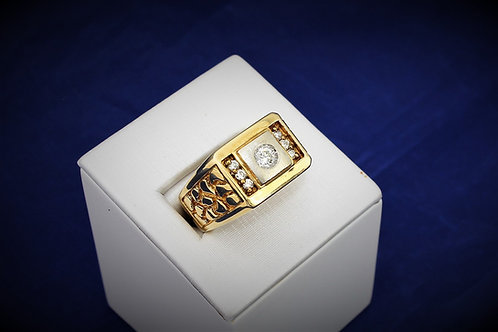 14k Yellow Gold Men's 0.25ct Diamond Ring