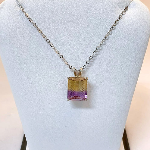 Sterling Silver Ametrine Necklace