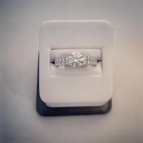 18k White Gold 2.25ct Round Diamond Engagement Ring