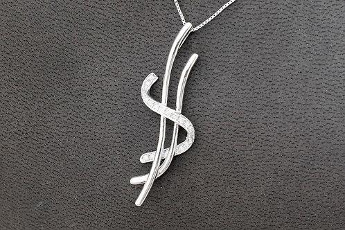 10k White Gold 0.25ct Diamond Necklace