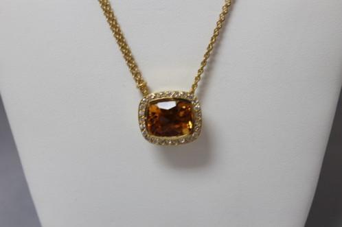 Golden topaz diamond necklace garons jewelry golden topaz diamond necklace aloadofball Images