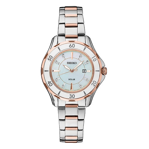 Seiko CORE Mother-of-Pearl Solar Powered Watch Water Resistant