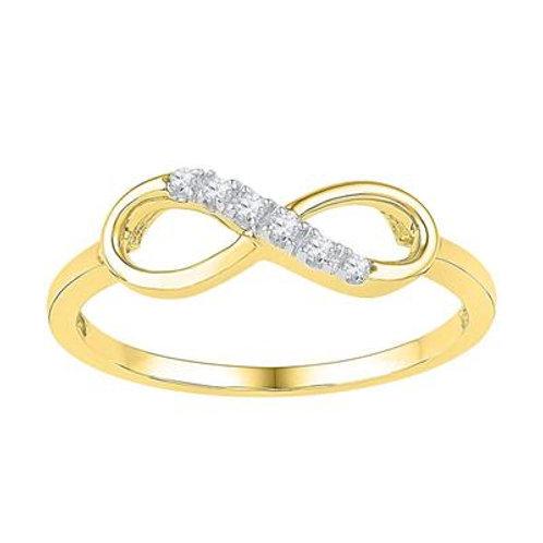 10k Yellow Gold Diamond Infinity Ring