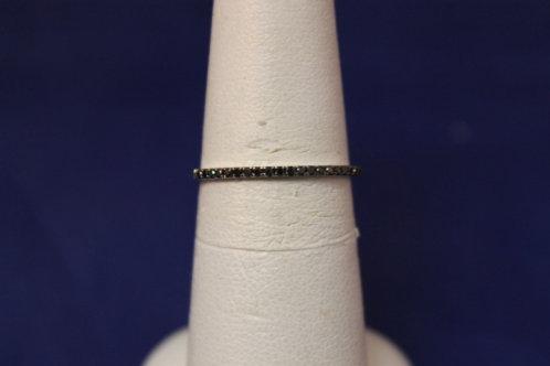 14k White Gold Black Diamond Anniversary/Wedding Band